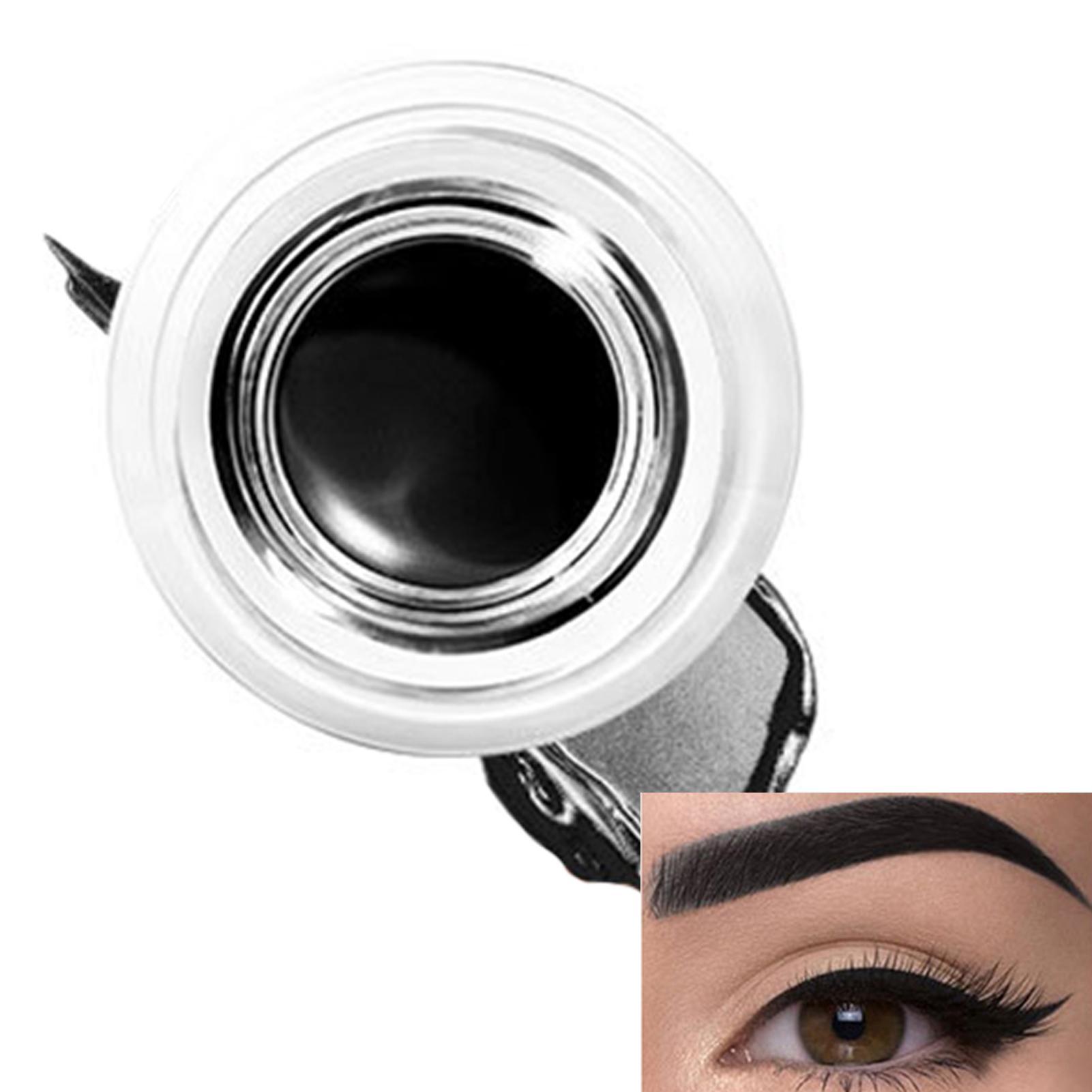 FOCALLURE Eyebrow Enhancers Cream Waterproof Eye Liner Gel Makeup Long Lasting Liquid Eyeliner Cream Eyeliner Makeup Set