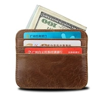 2021 new man card wallet mad cow leather men id card holder cowhide ultra thin male card case brown for traveling coin purse