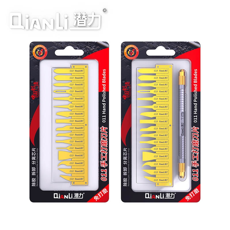 Qianli 011 IC cpu клей для удаления многофункциональный паяльной пасты очистка скребковый нож для ремонта материнской платы BGA