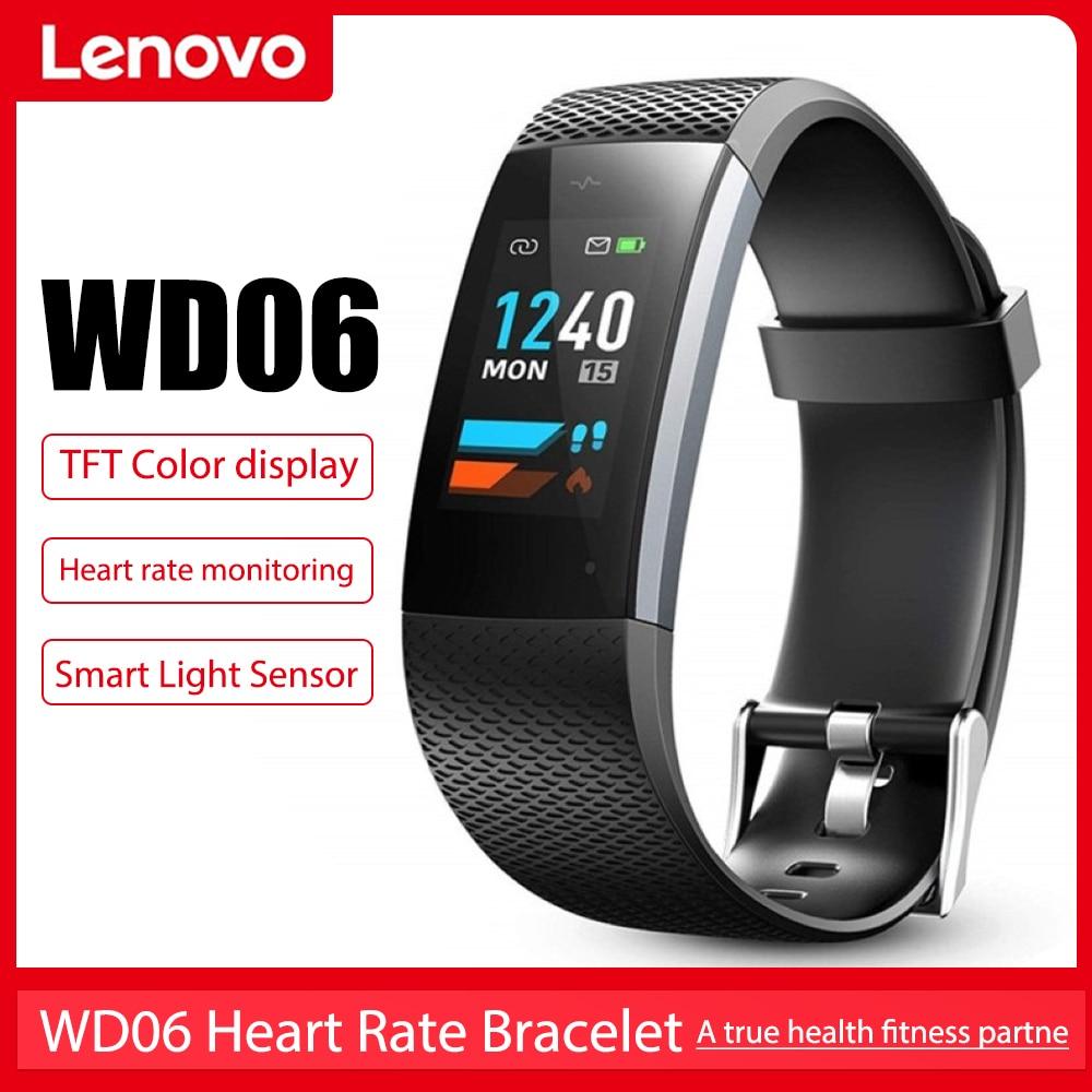 Lenovo WD06 Smart Bracelet Waterproof Heart Rate Monitor Pulse Meter Sport Watches Fitness Tracker Call Reminder for Men Women