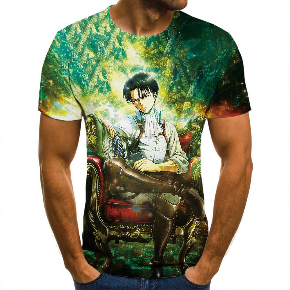 Camiseta de manga corta 3d para hombres, ropa de calle informal de...