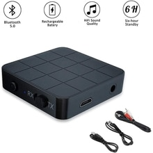 Portable Kn321 2 in 1 Bluetooth 5.0 Receiver Transmitter Usb 3.5mm cable and 3.5mm to 2RCA cable for