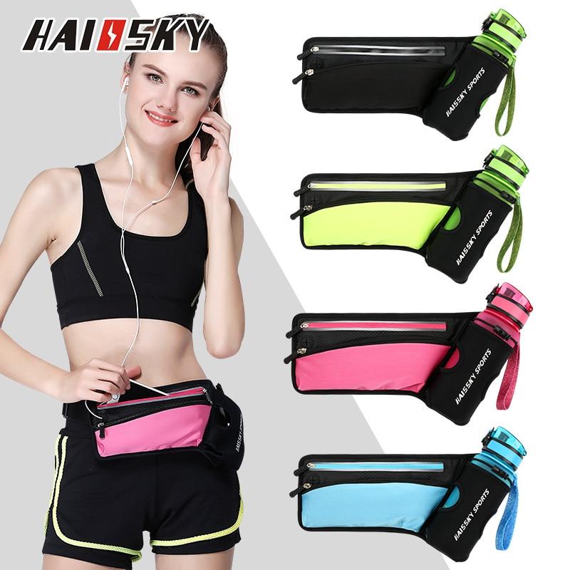 Водонепроницаемая поясная сумка HAISSKY, сумка унисекс для бега, тренажерного зала, для телефона, для мужчин, для фитнеса