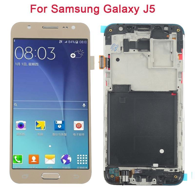 [해외] 삼성 전자 갤럭시 J5 2017 J530 J530F 용 슈퍼 Amoled LCD J5 Pro 2017 J5 Duos 용 LCD 디스플레이 터치 스크린 디지타이저 어셈블리 lcd