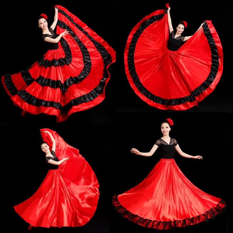Атласная гладкая юбка размера плюс для фламенко традиционная испанская коррида