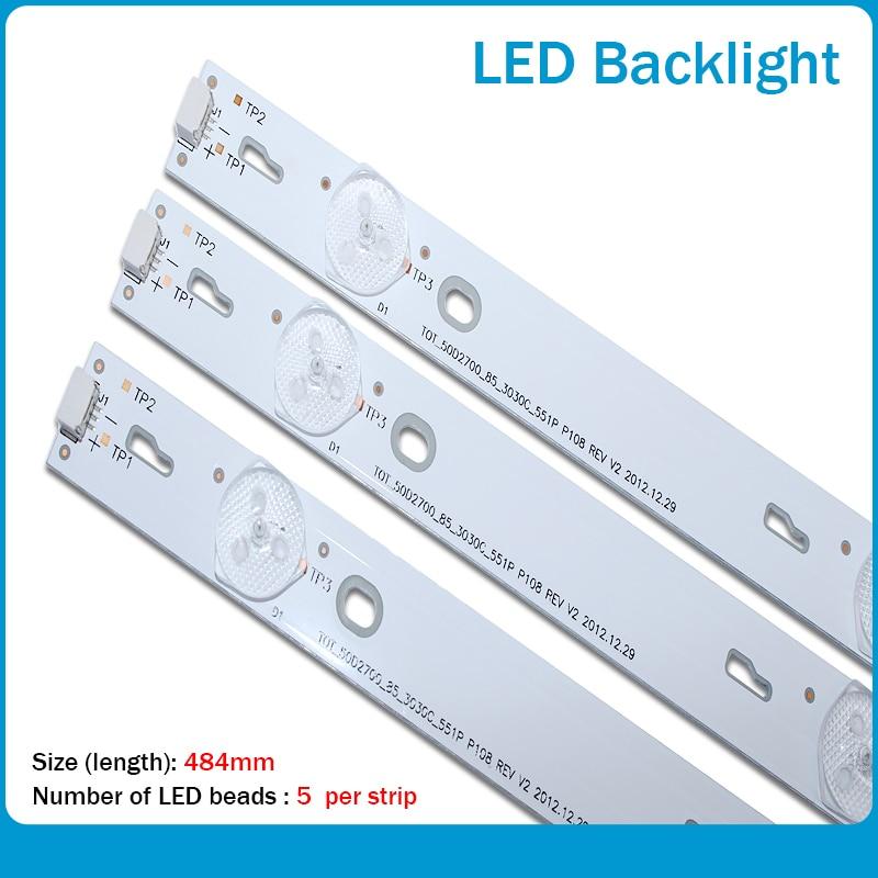 LED الخلفية قطاع 5 مصباح ل TCL D50A710 B50A638 C-LB5005-HR1 50HR330M05A0 50D2700 4C-LB5005-HR1 LED50D2720 50FS3800 D50A710