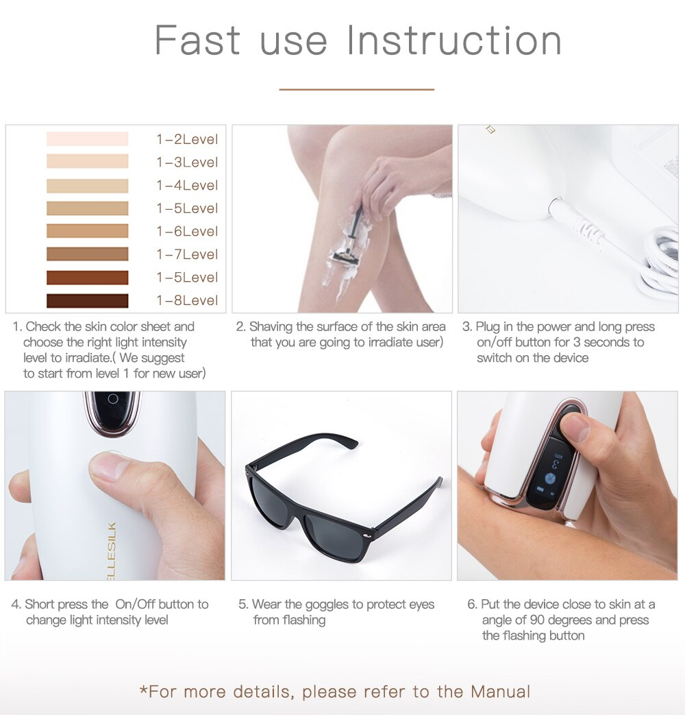 IPL Hair Removal Machine Portable Epilator Professional Permanent IPL Laser Body Hair Removal Beauty Device For Home Use enlarge