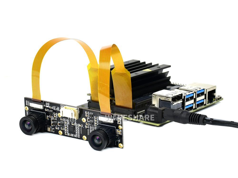 Waveshare وحدة كاميرا مجهر ، ثنائي IMX219 ، 8 ميجابكسل ، رؤية ستيريو ، رؤية عمق