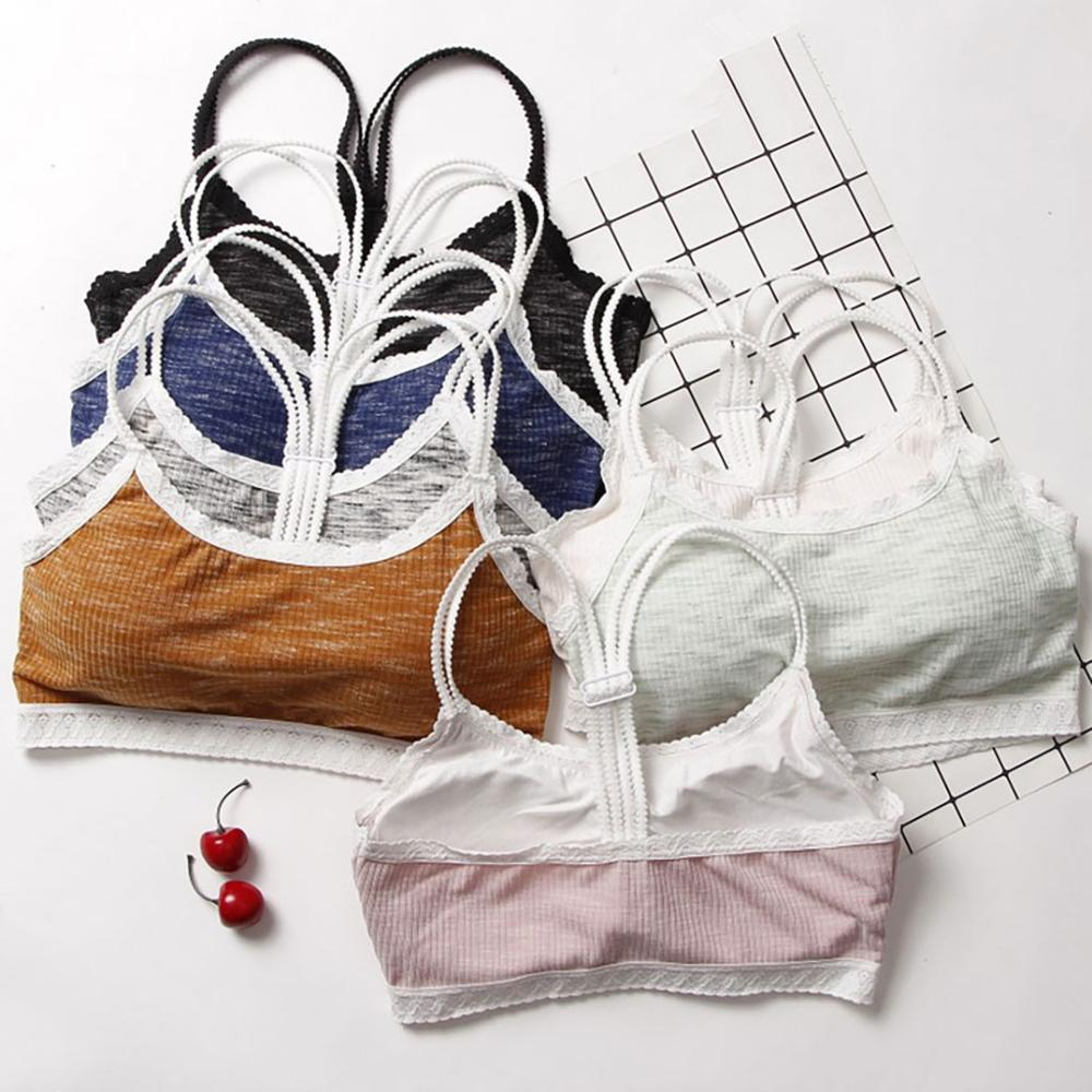 Chic Bralette Bra Women Seamless Girls Bralette Wireless Breathable Bra Underwear Ladies Casual Lingerie #20