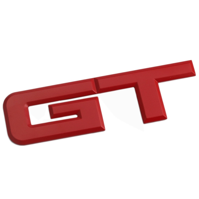 Logotipo de GT 3d etiqueta engomada del coche de moda pegatina de la decoración del coche para Ford Mustang Focus Mk 1 2 3 7 Mondeo coche de estilo rojo