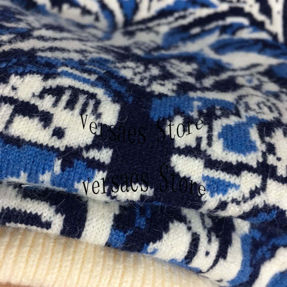 luxury design new coconut forest women's sweater letter printed knitted sweater round neck long sleeve Pullover Sweater sweater enlarge