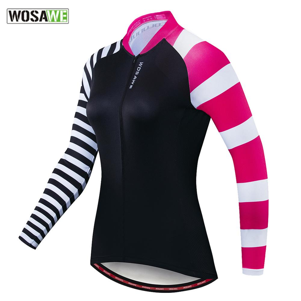 WOSAWE Women's  Motorcycle Tops Long Sleeves T-shirt Spring Autumn Female Breathable Motorbike Bicycle Bike MTB Quick Dry Jersey enlarge