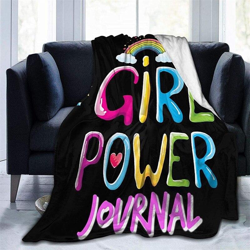 بنات قوة لينة أفخم هدية الفانيلا صوف ليف دقيق المفرش شيربا 3d-print بطانية الأريكة غرفة نوم ديكور