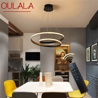 oulala pendant light fixtures led with remote control dimmable modern home decorative for dining room restaurant