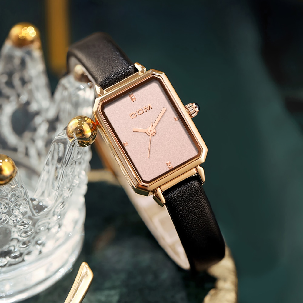 DOM Ladies Watch Luxury Trend Casual Fashion  Waterproof Swimming Leather Women's Watch G-1337 enlarge