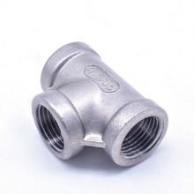 304 té de fil interne dacier inoxydable/té de réduction réduisant le joint interne de tuyau deau de dn8 DN10 DN15 DN20inch