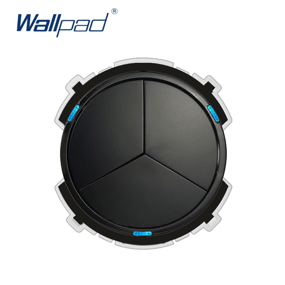 Wallpad 3 Gang 2 Way interruptor de luz de pared LED indicador función clave sólo Combinación libre