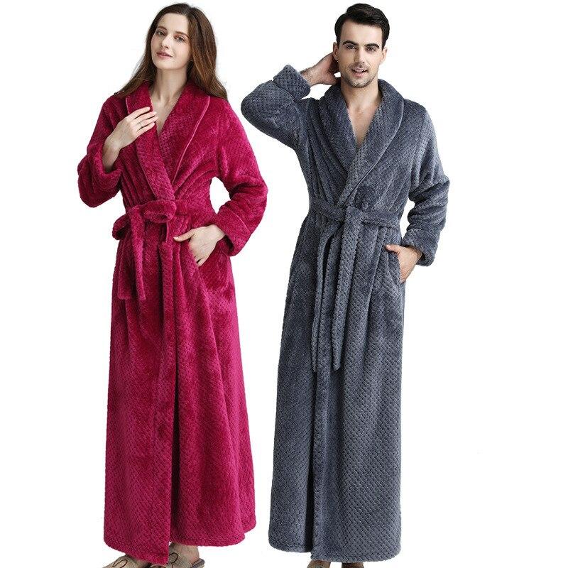 رداء حمام طويل من الفانيلا ، ملابس منزلية ، رداء حمام نسائي ، ثوب نوم دافئ من الصوف المرجاني ، 2020