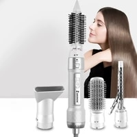 professional hot air brush hair dryer straightener 5 in 1 hair dryer brush electric curling rechargeable new style hair comb