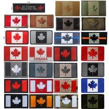 Patchs brodés drapeau du Canada feuille dérable drapeaux canadiens patchs militaires emblème tactique Appliques 3D insignes de broderie