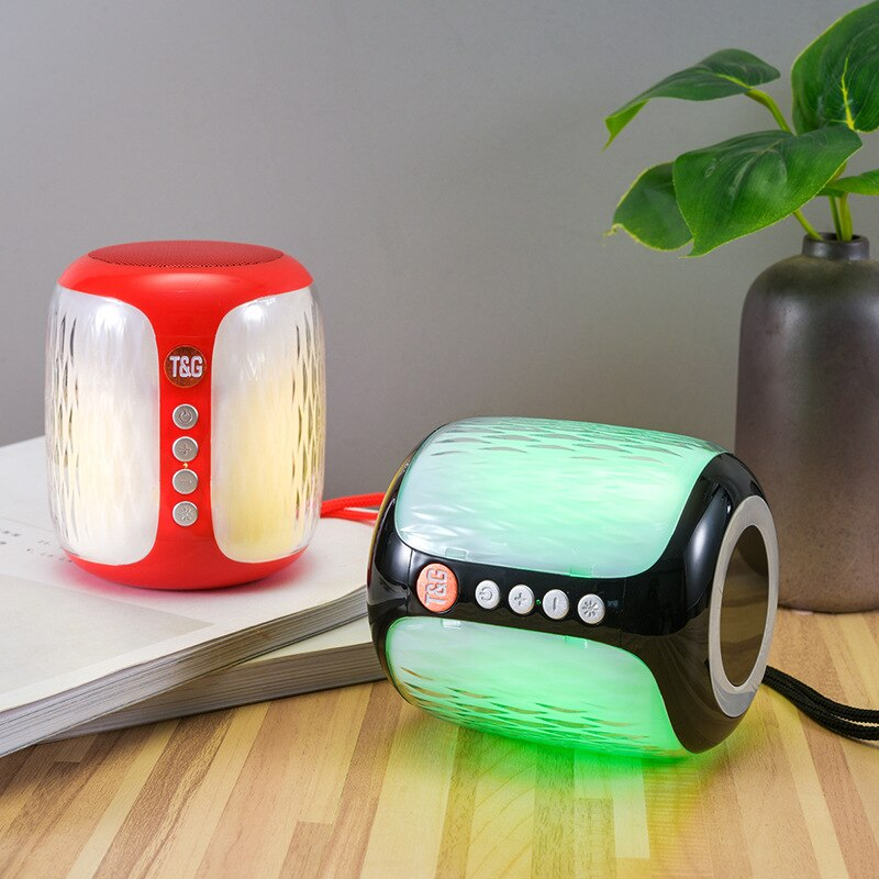 TG611 Mini altavoz LED Bluetooth inalámbrico portátil columna caja de música TF...