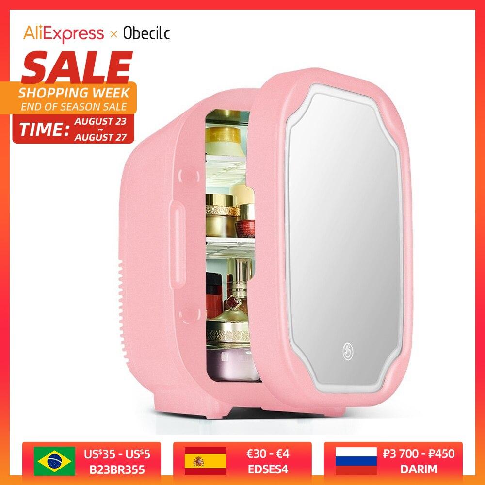 Большой косметический мини-холодильник 8 л, портативный автомобильный холодильник, двойная дверь, автомобильный морозильник для путешеств...