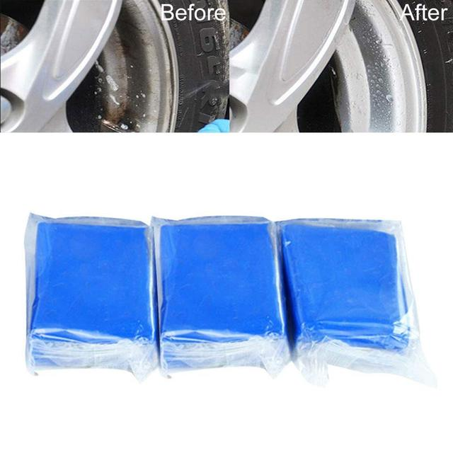 3Pcs 100g Car Vehicle Washing Cleaning Mud Clay Decontamination Paint Care  Paint Polishes Tools Maintenance Car Exterior