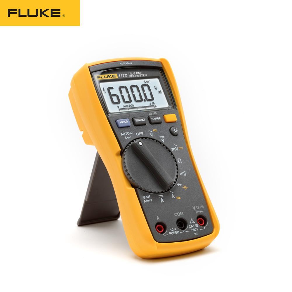 فلوك ، مقياس رقمي متعدد بإضاءة خلفية ، أداة قياس VoltAlert ، RMS حقيقية ، 117 درجة مئوية