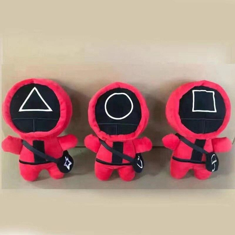 Новинка, игра, плюшевые куклы, игрушки, кавайная плюшевая кукла, Корейская забавная мультяшная игра-кальмар, плюшевые игрушки, подарок на Хэ...
