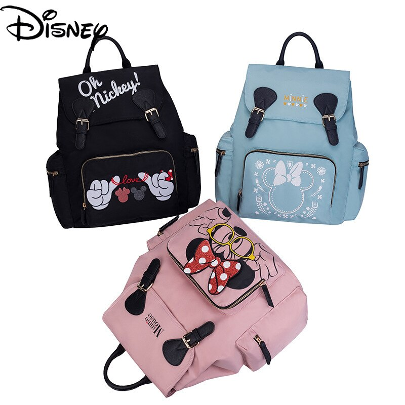 Disney Mickey Female Cute Cartoon Portable Backpack Fashion Waterproof Independent Wet Clothes Bag Design Large Capacity