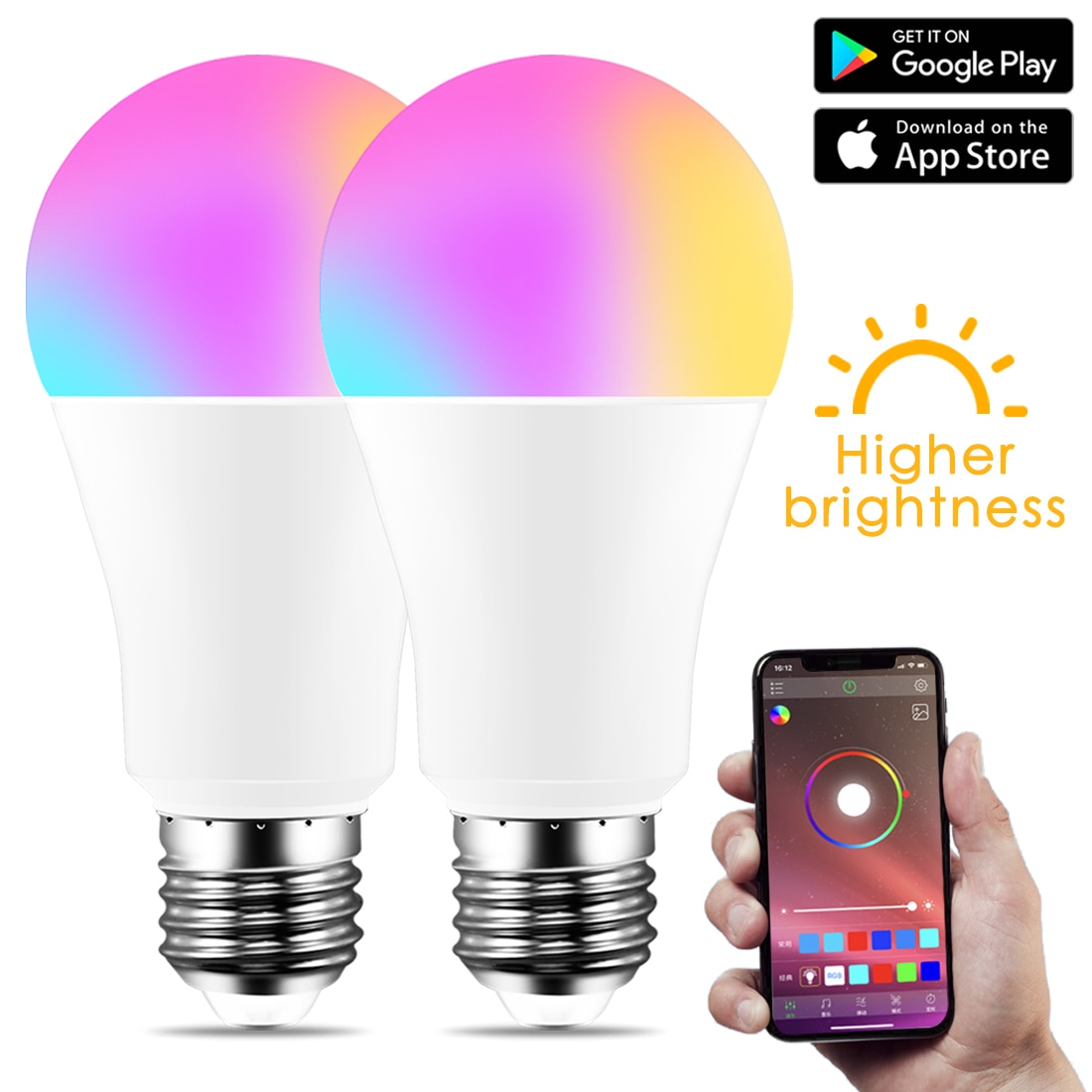 Neue Drahtlose Bluetooth 4,0 Smart Birne hause Beleuchtung lampe 10W E27 Magie RGB + W LED Farbe ndern Licht birne Dimmbar IOS
