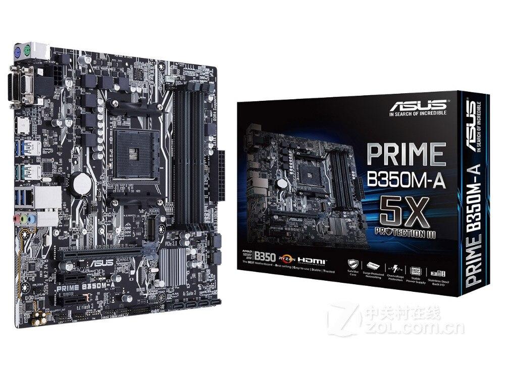 جديد ل ASUS PRIME B350M-A اللوحة المقبس AM4 DDR4 USB3.0 USB3.1 SATA3 HDMI DVI VGA 64 جيجابايت سطح المكتب اللوحة شحن مجاني