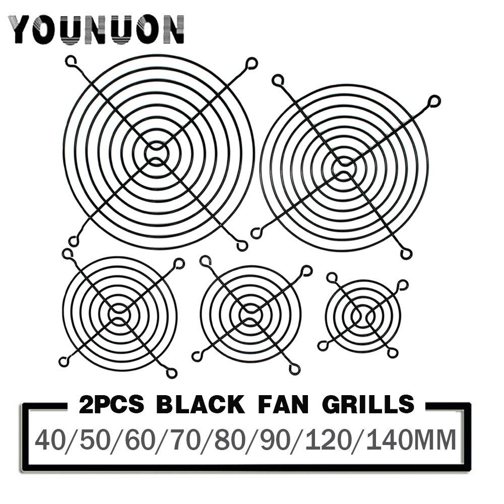 2PCS 60mm 80mm 90mm 92mm 120mm 140mm Fan Grills Metal Mesh Finger Guard Protective Net Fan Grill Computer Case Fan Grill