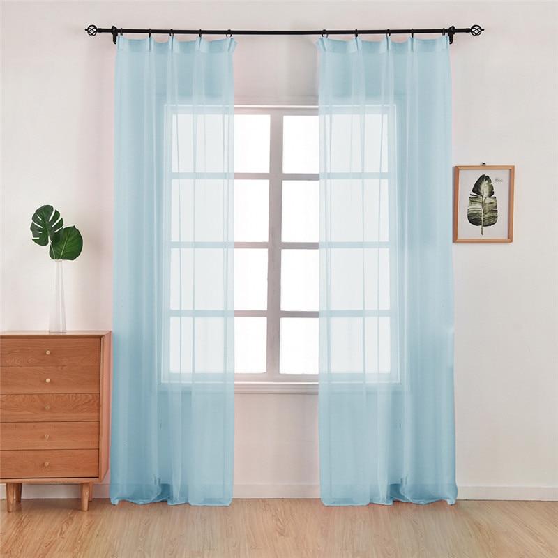 Cortina de ventana transparente de diseño floral Jacquard de 2 piezas para dormitorio, tela de tul, sala de estar, moderna, lista para confeccionar