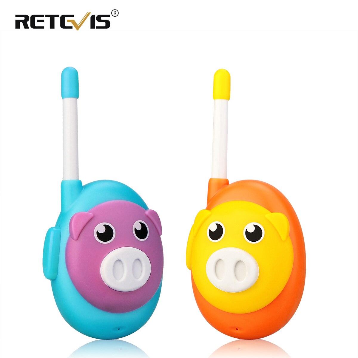 Retevis RB616 RB16 Walkie Talkie Children 2pcs Cute Pig Design1 Channel Two Color Walkie-talkies Birthday Gift Toy Walkie Talkie