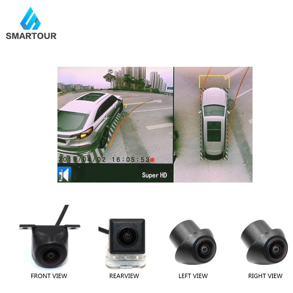 Smartour más nueva para coche 3D Surround View sistema de monitoreo 360 grados de conducción pájaro vista Panorama Cámara 4CH DVR grabador con sensor