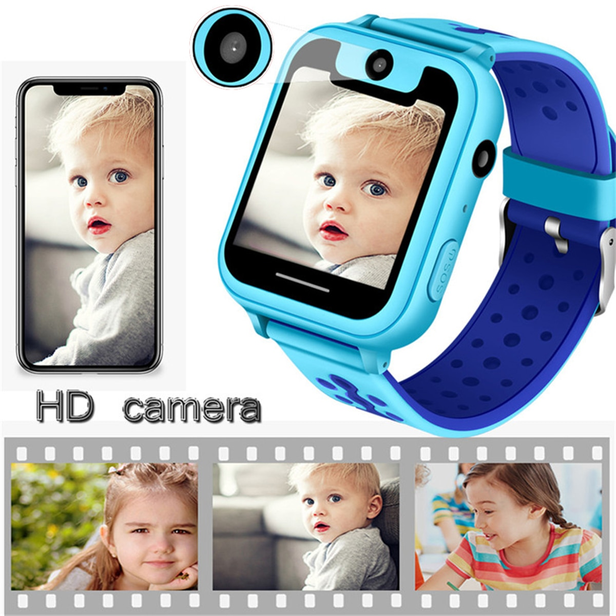 2019 LBS 1.54 inch Child Smart Watch Phone Position Children Watch Touch Screen Smart Baby Watch Support SIM Card Free shipping