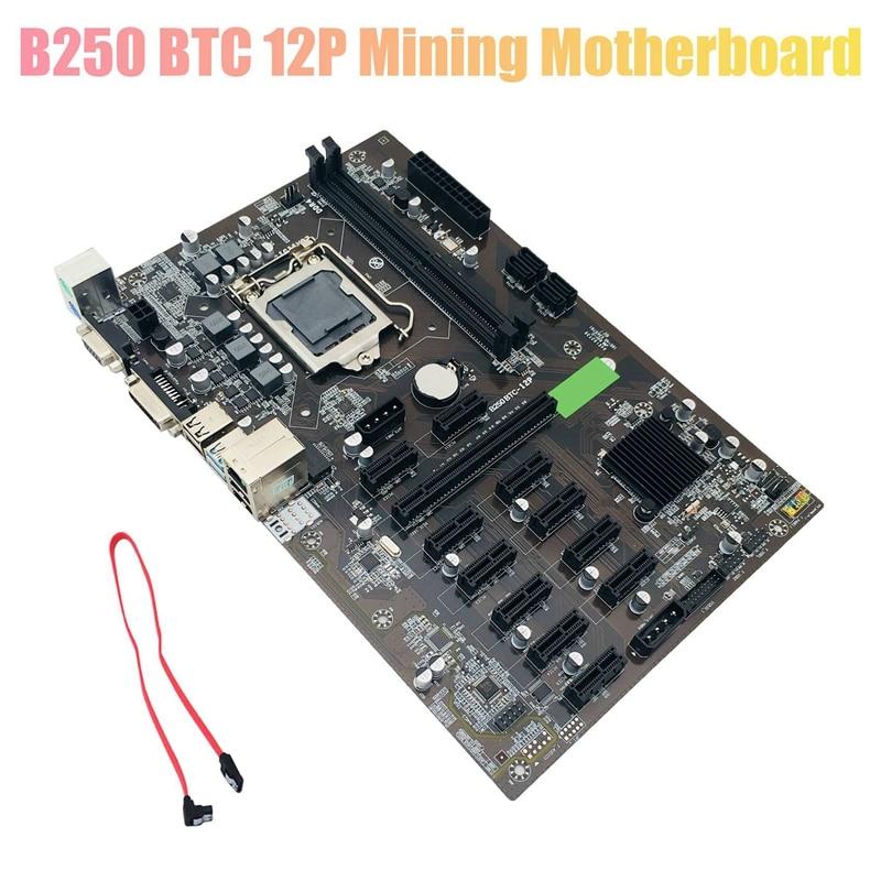 B250 BTC Mining Motherboard LGA 1151 DDR4 12XGraphics Card Slot SATA3.0 USB3.0 Low Power for BTC Miner Mining