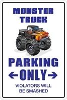 monster truck parking only 8 x 12 metal novelty sign aluminum ns 097