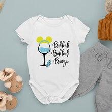 Infant Bodysuits Cinderella Print Comfortable Four Seasons Disney Wine Glass Princess Outdoor Fashio