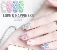 nail art flat drill glass crystal color diamond creative salon nail decoration snow protein a drill