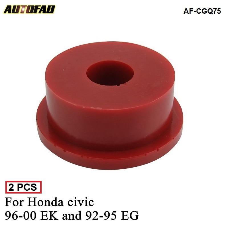 2 uds Cambio de motor montaje soporte insertos de buje Kit de reemplazo de poliuretano apto para Honda civic 96-00 EK y 92-95 EG AF-CGQ75