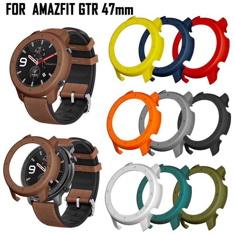 Capa protetora para xiaomi amazfit gtr 47mm pc protector quadro para xiaomi gtr relógio proteger escudo acessórios cinta banda