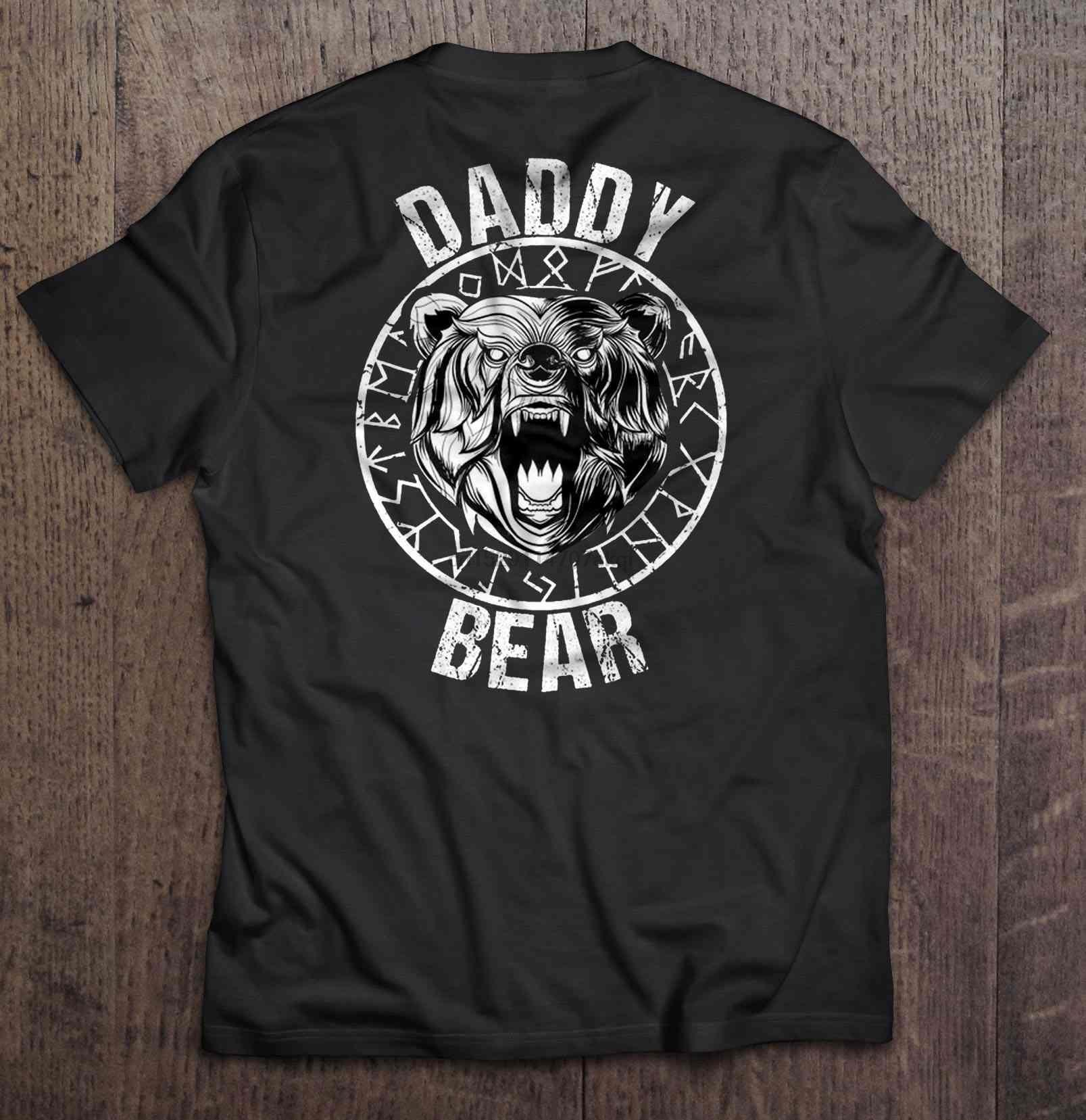 Camiseta divertida de los hombres de la manera de la camiseta de las mujeres de la versión del vikingo del oso del papá