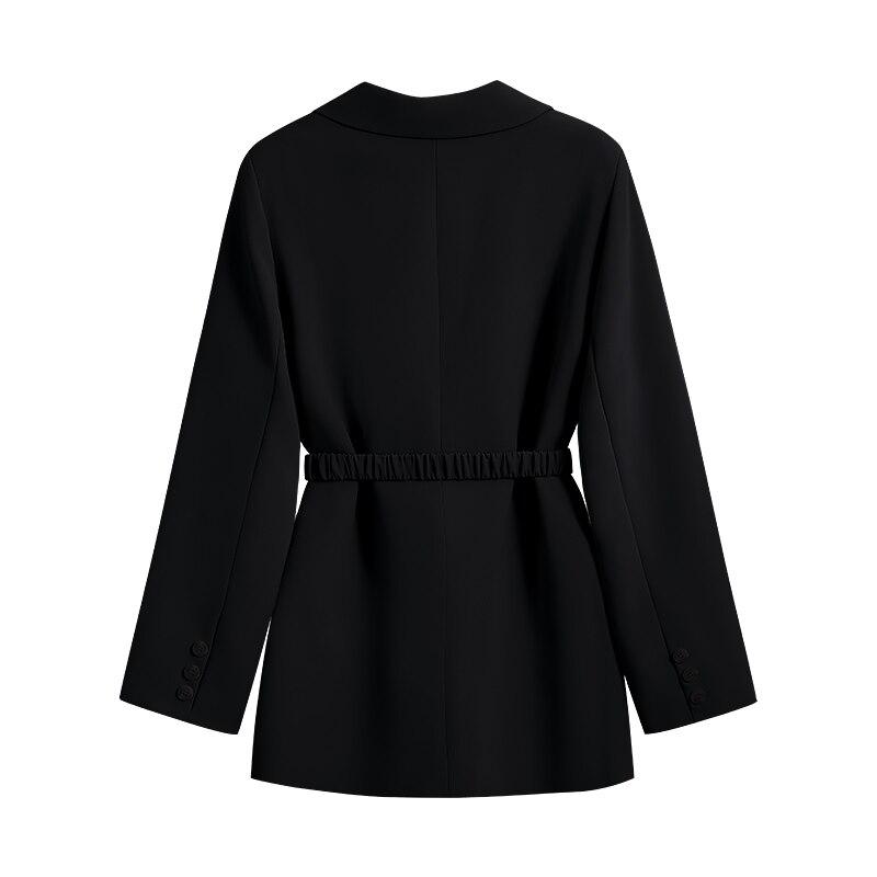 المرأة البدلة سترة الخريف 2021 جديد مزاجه دعوى ارتصاف حزام على شكل سلسلة عالية الجودة متعددة الألوان المتاحة