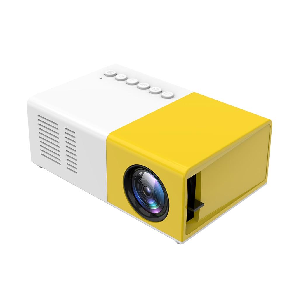 Mini proyector de Video LED portátil para cine en casa LCD Soporte para Proyector aéreo 1080p AV, USB, tarjeta SD-enchufe AU