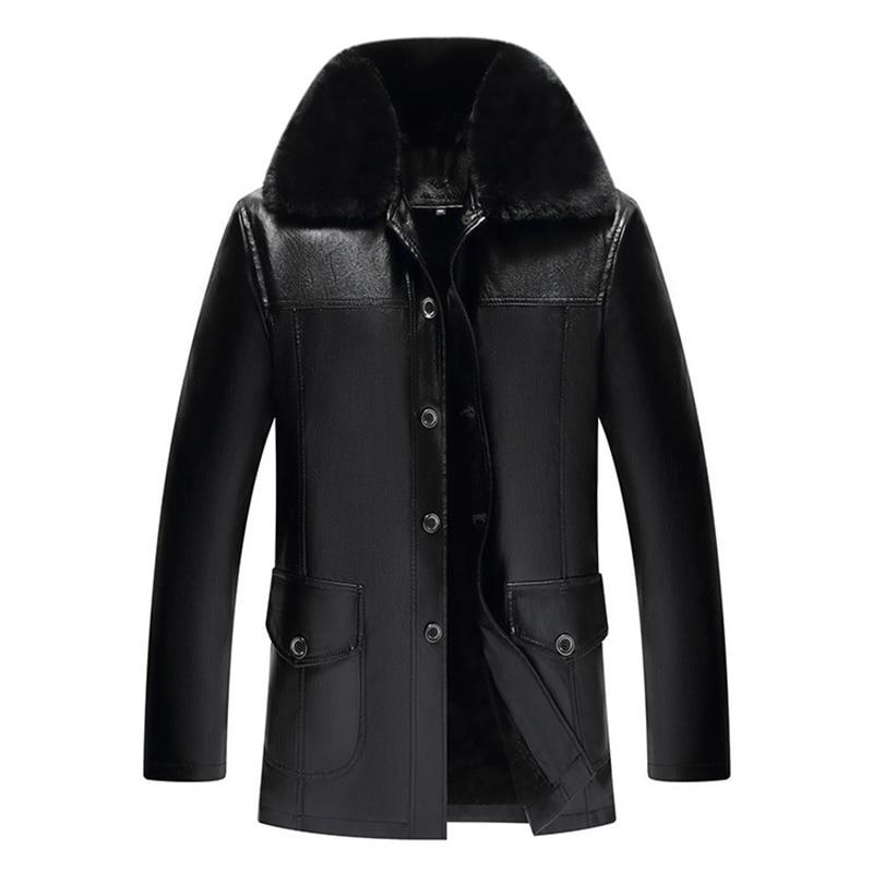 Мужская кожаная куртка, Мужская куртка, зимняя кожаная куртка из искусственного меха, мужская куртка, кожаная куртка, мужские кожаные куртк...