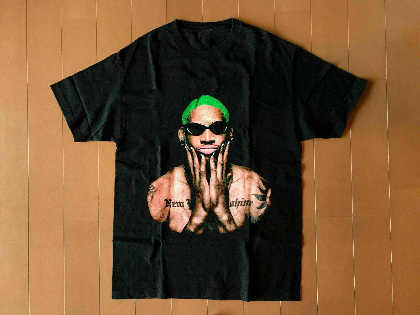 Винтажная черная футболка с изображением Денниса Родмана Нью-Йорка, унисекс, S 6Xl