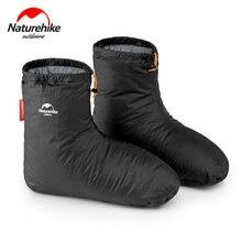 Naturehike 거위 아래 신발 커버 슬리핑 백 액세서리 80g 캠핑 실내 unisex 겨울 따뜻한 피트 커버 방수 windproof