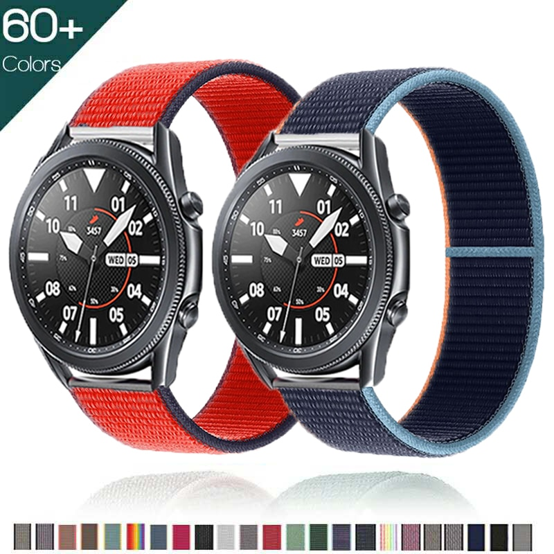 20mm 22mm band For Samsung Galaxy Watch 3/45mm 41mm active 2 strap Gear S3 Sport Nylon Loop Bracelet Huawei watch GT 2 42mm 46mm